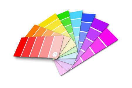 color swatches: Set of paint color swatches illustration on white background