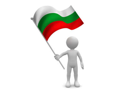 bulgaria: Bulgaria Flag waving isolated on white background Stock Photo