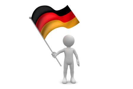 Germany Flag waving isolated on white background