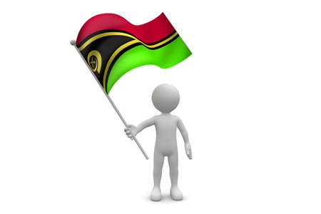 zimbabwe: Bandera de Zimbabwe waving aislado en fondo blanco