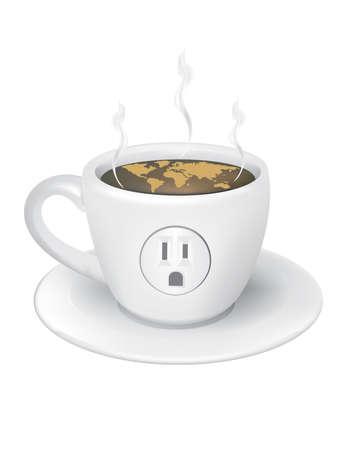world coffee vector Иллюстрация