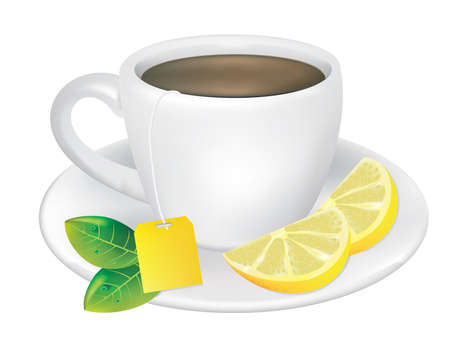 Tea and Lemon vector