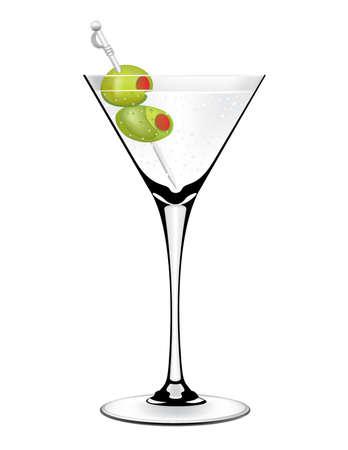 Olive Martini vector