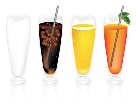 cold drinks vector Иллюстрация