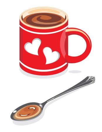Coffee mug vector