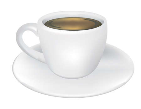 Cup and Saucer vector Иллюстрация