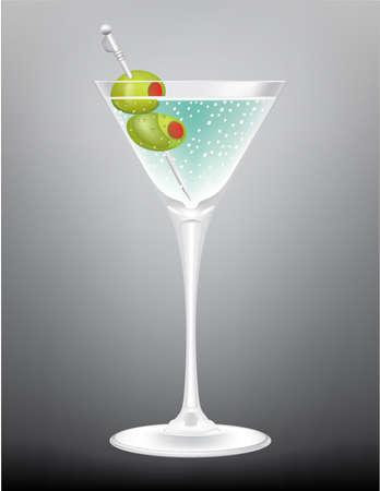 Blue Martini vector