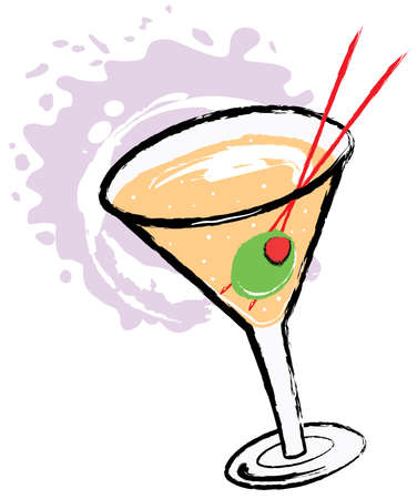 Cocktail cartoon