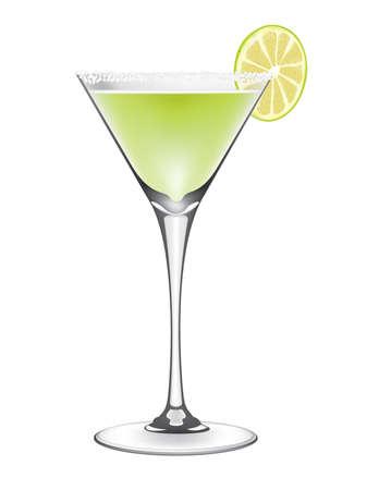 Lime margarita cocktail vector