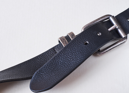 Leather black belt, for jeans