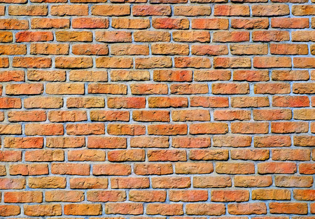 Masonry brick wall structure, the wall of the house. Stock Photo