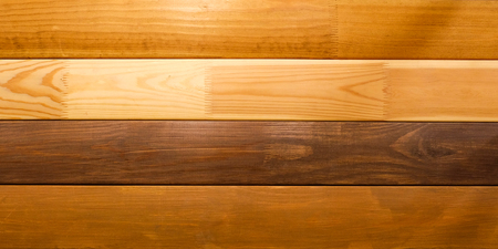 Polished Board. Different types of wood. White oak. Bog oak. Light walnut. Details for the manufacture of shelves. Wood texture.