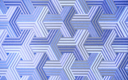 3D. Abstract blue metal background. Geometric hexagons. The Color Is Different