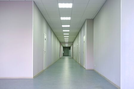 Clinic, hospital corridor. Waiting area in the hospital corridor Reklamní fotografie