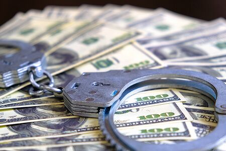 Law and crime. Criminal earnings. Business concept. The concept of wealth