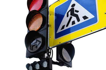 Modern design-road safety concepts. The concept of active life. Green traffic light. The concept of travel Imagens