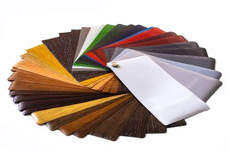 Samples for lamination. Multi-colored laminate. Color palette