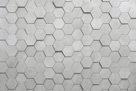Geometric hexagons. Abstract silver metal background Stock fotó