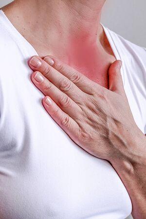 Bronchitis is a concept for medical design. Respiratory medicine. Medical symptom. Disease, ailment, symptom. Health Banco de Imagens