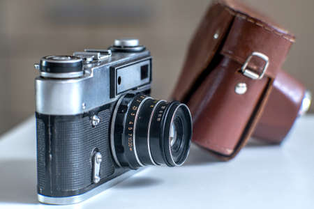 Vintage retro film camera, great design for any purposes. Retro background