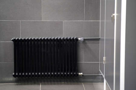 Black radiator, room heater with temperature controller
