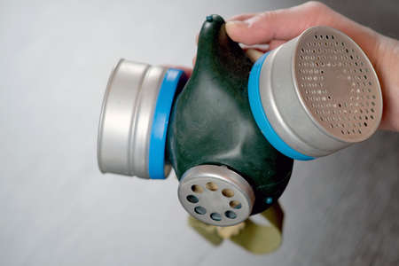 Gas mask maximum protection. For conceptual design.   a safety concept. The concept of health