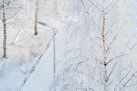A majestic winter landscape, shining with sunlight in the morning. Dramatic winter scenes.