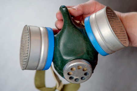 Gas mask maximum protection. For conceptual design. Protection, safety concept. The concept of health.