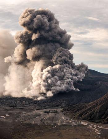 The Bromo volcano eruption, Java, Indonesia