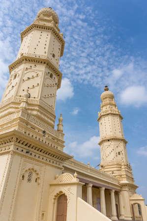 twin tower: Beautiful twin tower mosque in Srirangapatna, Karnataka, India
