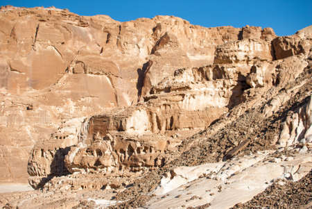 sinai desert: Sinai desert in Egypt. The rocks of the mountains processed by time and wind