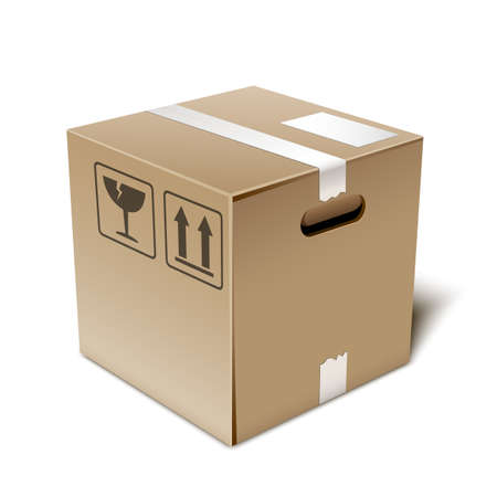 Cardboard box icon, illustration 版權商用圖片 - 39715953