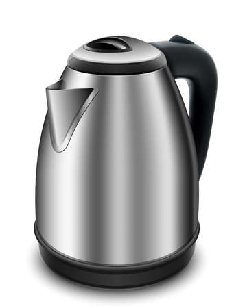 electric kettle: Electric kettle on a white background. Illustration