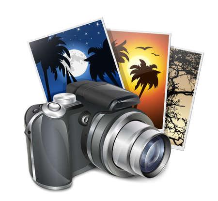 Photo camera and photos.