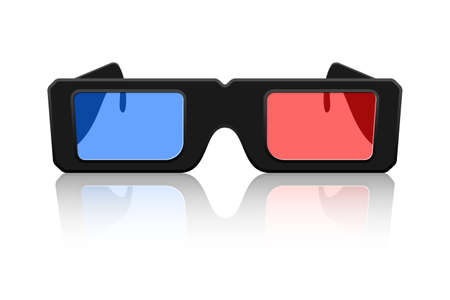 anaglyph: Vector 3D Glasses Icon