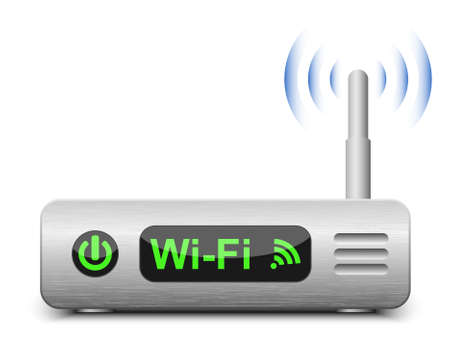 wlan: Wireless Router Icon. Vector Illustration