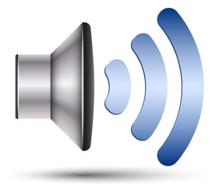 Icône haut-parleur Banque d'images - 40324586