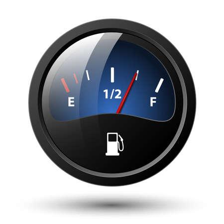 gauges: Fuel gauge icon. Vector illustration Illustration