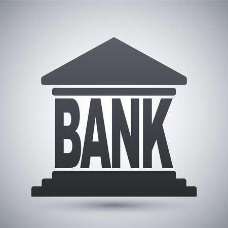 federal: Bank building icon, vector