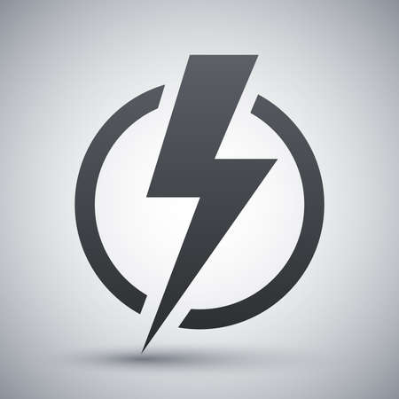 thunder storm: Lightning bolt icon, vector Illustration
