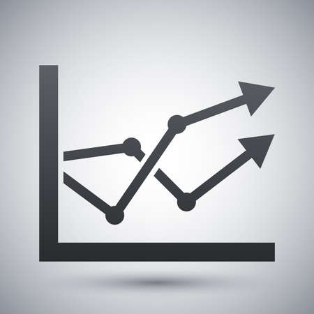 graph icon: Business graph icon Illustration