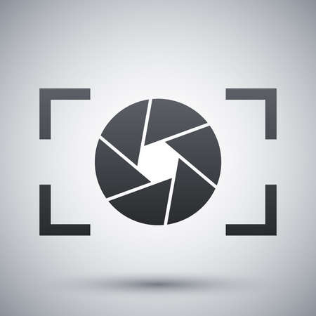 photograph: Camera lens icon, stock vector