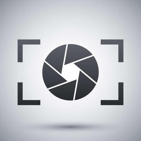 macchina fotografica: Icona obiettivo della fotocamera, vettoriali Vettoriali