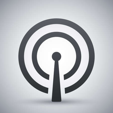 broadcasting: Vector broadcasting icon