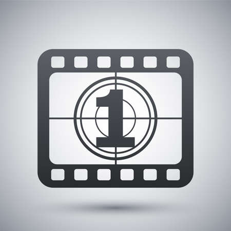 photographic film: Vector film strip icon