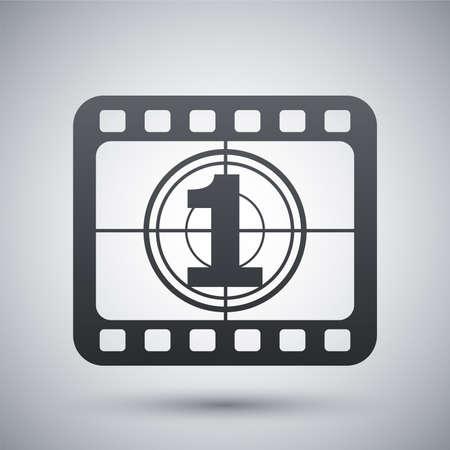 rollo pelicula: Vector tira de película icono Vectores