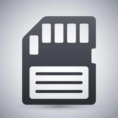 memory card: Vector memory card icon