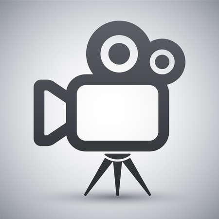 vintage television: Vector movie camera icon Illustration