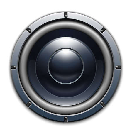 loud speaker: Audio speaker icon isolated on white background Illustration