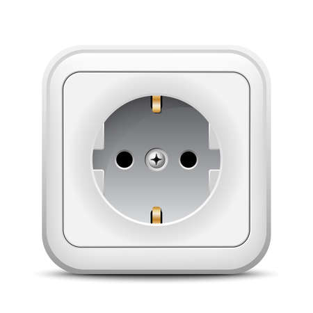 Power outlet app icon Vector